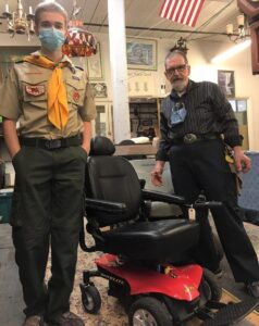 Estate Treasures and Services helps Eagle Scout get his badge through good will and love.