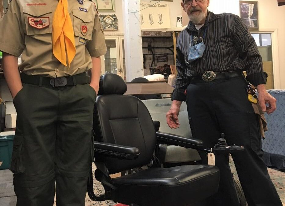 Estate Treasures and Services Helps Eagle Scout Complete His Project!
